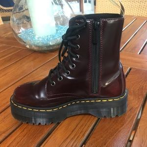 Cherry Red Platform Doc Martens